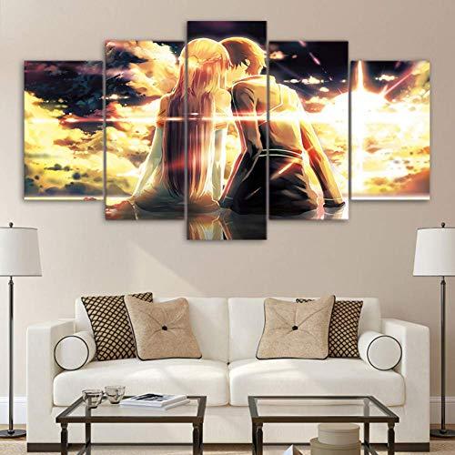JSBVM Lienzo Arte de la Pared Inspirador Ad/án y Eva Im/ágenes de impresi/ón en Lienzo para la decoraci/ón Moderna del hogar