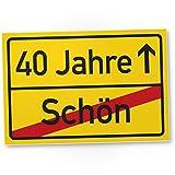 DankeDir! 40 Jahre (Schön) Ortsschild - Kunststoff Schild, Geschenk 40. Geburtstag, Geschenkidee Geburtstagsgeschenk Vierzigsten, Geburtstagsdeko/Partydeko / Party Zubehör/Geburtstagskarte