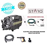 STARQ (ISO Certified) Professional High pressure washer NEW LAUNCH W2 1500 watts Induction motor type no maintenance (without carbon) portable high pressure washer / cleaner with auto stop/ auto start function (Color As Per availability-100% Copper Winding) With Foam Gun with wide and pointed function & Accessories