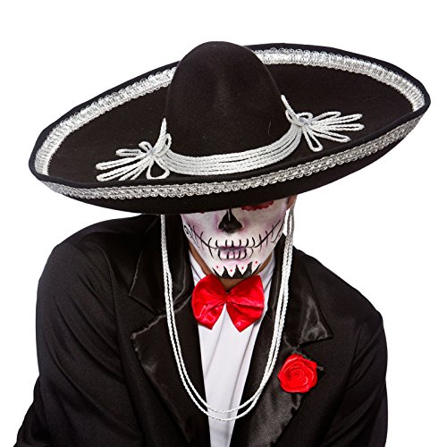 Sombrero Black Hat Halloween Accessory ()