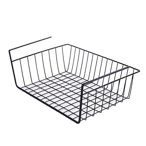 DULPLAY Gesamtspeicherkapazität unter Regal, Bücherregal Organizer Platz-Red Stahl ohne Bohren Edelstahl Retter engmaschig 14x9x6inch(36x24x14.3cm) - 24x36-draht-regale