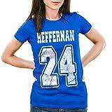 style3 Heffernan 24 Damen T-Shirt Doug Queens Sitcom, Farbe:Blau;Größe:2XL