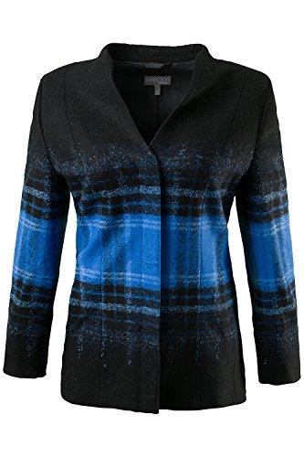 Ulla Popken Femme Grandes tailles Veste laine bouillie 701625 Noir