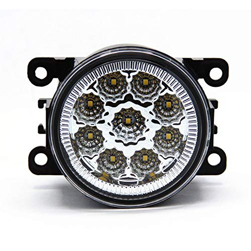 Pudincoco 2pcs / set 6000K fari fendinebbia LED Full Power ad alta potenza con 9 LED SMD bianco per Ford Ranger & Territory