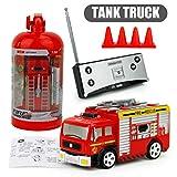 Jasnyfall 27MHz RC Tank Truck wiederaufladbare Mini Fernbedienung Feuer LKW Kinder Spielzeug