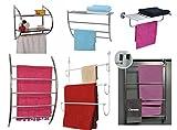 Handtuchhalter für die Tür - 4 Stangen - verchromtes Metall
