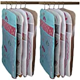 #3: Kuber Industries Transparent Kota Doria Hanging Saree Cover - Set Of 10 Pcs