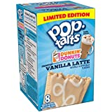 Kelloggs Pop Tarts Dunkin Donuts Frosted Vanilla Latte Toaster Pastries 8 Pack 400g Box