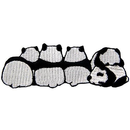 ZEGIN Aufnäher, bestickt, Design: Netter Panda, zum Aufbügeln oder Aufnähen (Nähen Sie Ein Panda Kostüm)