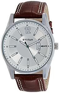 Titan Octane Analog Silver Dial Men's Watch-NK9322SL03
