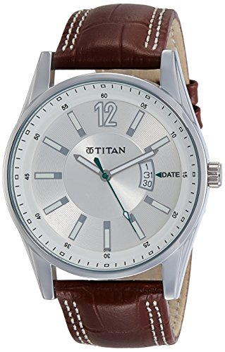 Titan Octane Analog Silver Dial Men's Formal Watch