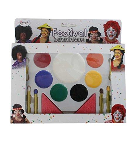 Preisvergleich Produktbild Hochwertige Schminkpalette in Theaterqualität für die ganze Familie mit 8 wasserlöslichen Farben,