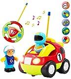 deAO RC Auto Adorabile per Principianti Auto Telecomandati con Luci Musica e Suoni Figura del Conduttore Rimovibile (Auto da Corsa)