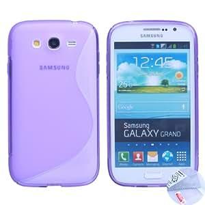 Arbalest ® Coque Samsung Galaxy Grand Duos GT-I9080 9082 Etui S-line Silicone Gel Housse Violet , Cadeau Arbalest Films de Protection d'écran pour Samsung Galaxy Grand & Arbalest chiffon de nettoyage