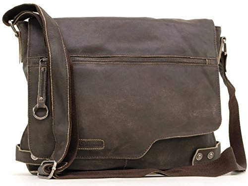 Ashwood Borsa Messenger pelle - Camden - 8353 - Marrone