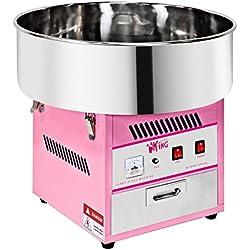 Royal Catering Machine à Barbe à Papa Professionnelle RCZK-1200-W (diamètre de la cuve 52 cm, 1.200W, rendement horaire 1 unité/60s, 52x52x50cm)