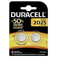 Duracell Düğme Pil 2025 2'li, 3 Volt Lityum, Bakır/Siyah