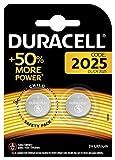 Duracell Specialty 2025 Lithium-Knopfzelle 3V, 2er-Packung (CR2025 /DL2025) entwickelt für die Verwendung in Schlüsselanhängern, Waagen, Wearables und medizinischen Geräten.