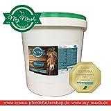 EMMA Mash Pferdefutter I Dry I I Trockenmischung Mash zum Füttern I Leinsamen + Weizenkleie I Eimer 2 Kg I Wohlfühlkur für Magen & Darm I Premiumprodukt