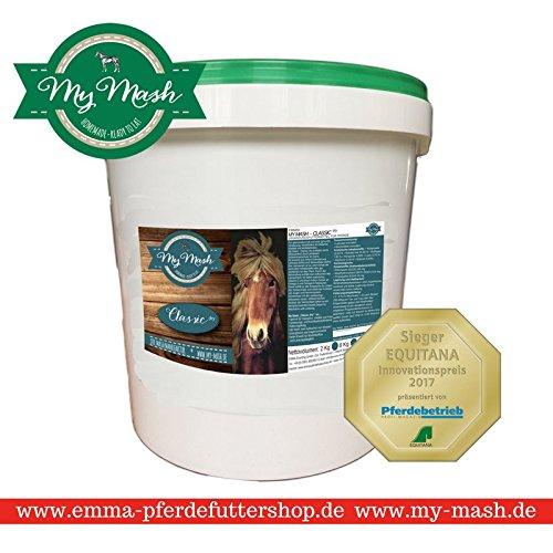 Mash Pferdefutter I Dry ITrockenmischung Mash zum Füttern I Leinsamen + Weizenkleie I Eimer 2 Kg I Wohlfühlkur für Magen & Darm I Premiumprodukt EMMA