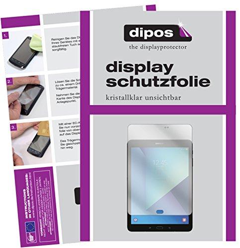 dipos I 2X Schutzfolie klar passend für Samsung Galaxy Tab S3 Folie Bildschirmschutzfolie