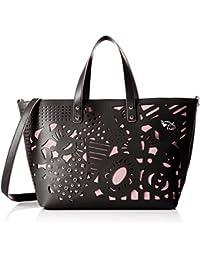 B11692, Womens Shoulder Bag, Nero, 16x23x35 cm (W x H L) Braccialini