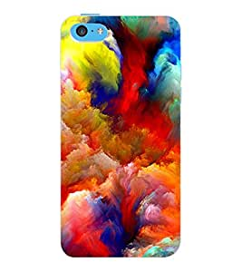 ColourCraft Superhero Design Back Case Cover for APPLE IPHONE 5C