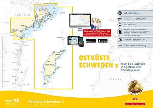 Sportbootkarten Satz 12: Ostküste Schweden 2 (Ausgabe 2018/2019): Mem bis Stockholm mit Gotland und Södertäljekanal: Alle Infos bei Amazon