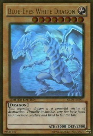 Yu-Gi-Oh! - Blue-Eyes White Dragon (GLD5-EN001) - Gold Series: Haunted Mine - Limited Edition - Ghost/Gold Hybrid Rare by Yu-Gi-Oh!