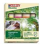 edding 24 EcoLine Textmarker Keilspitze 4 Stück farblich sortiert