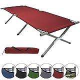 BB Sport Feldbett DURE XXL 210 x 72 x 45 cm Gästebett Camping-Bett, Farbe:red