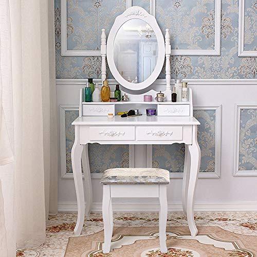 Generic R & St Hocker Spiegel mit Spiegel und Schubladen und Schminktisch mit ty Table Makeup Schminktisch