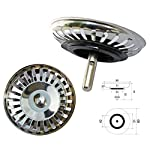ProKIRA Universal Siebkörbchen 3,5 Zoll (Ø80mm), für Spülen mit Handbedienung / Edelstahl