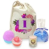 Twisted Envy I Floral Letter Border Initial Mini Spa In A Bag Collection 3