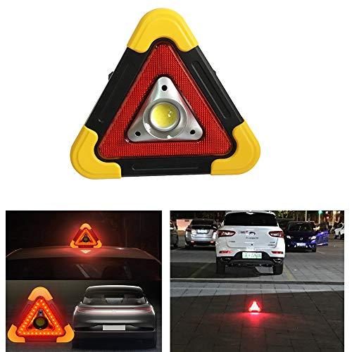 SXMA Lampe de Travail Solaire à Chargement Solaire Multifonction Portable Lampe de signalisation pour Voiture Triangle Panneau d'avertissement Lampe de Secours Lampe de Camping en Plein air