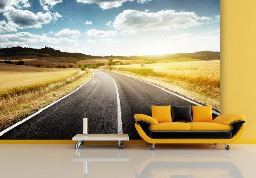 XXL TAPETEN TUSCABY ROAD - PAPEL PINTADO FOTOGRAFICO (DE FIELTRO O AUTOADHESIVO  SIN PVC  INODORO  IMPRESION NO CONTAMINANTE EN LATEX SIN DISOLVENTES)