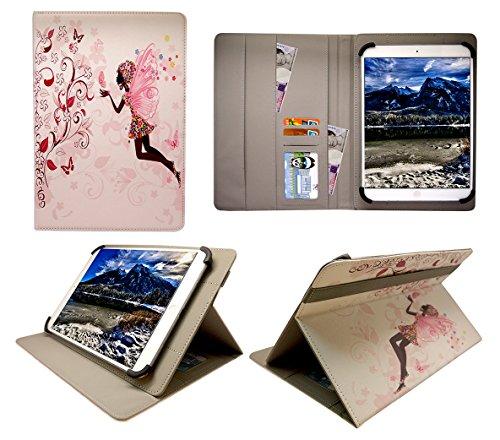 Thomson TH-BK1 / TH-BK2 10 Inch Tablet Fée Fleur Fille Universel Étui Coque Housse ( 10 - 11 Pouces ) de Sweet Tech