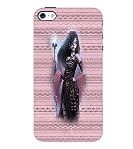 PrintDhaba Vamp D-4572 Back Case Cover for APPLE IPHONE 4S (Multi-Coloured)