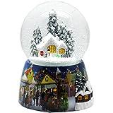 Bola de nieve de invierno romántico pie con regulador de-caja de música de 140 mm de alto - 20002