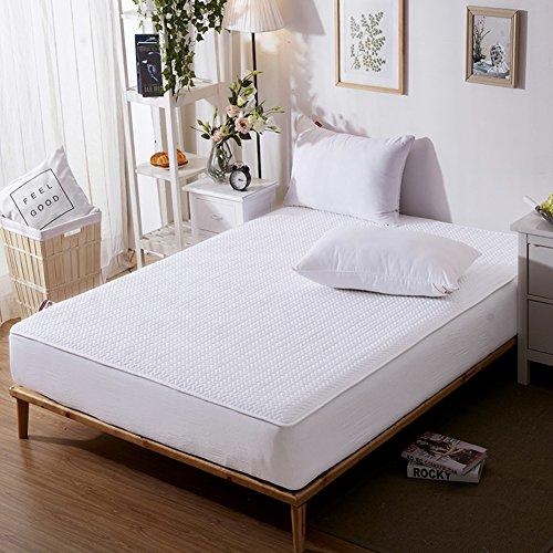 Baumwoll-Bett Abdeckung,Einzigen Stück Baumwolle Gesteppte Schutzhülle Dicke Rutschfeste Matratzenbezug