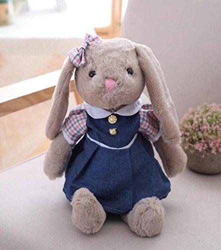 Heylookhere Nette Simulation Kleid Kaninchen Plüschtier Stofftier Baby Plüschtier Geschenk Lange 40 cm (Rosa)