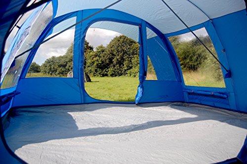 Vango Farnham 500 Five Person Tunnel Tent – Blue