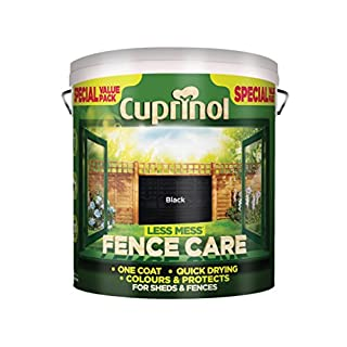 Cuprinol LMFCBL6L Less Mess Fence Care Black 6 Litre, 6l