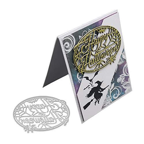 XuBa Happy Halloween Stanzformen Schablone Metall Form Vorlage für DIY Scrapbook Album Papier Karte 2018
