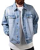 Urban Classics Herren Jacken Ripped Denim Jacket TB1438bleached blau 3XL