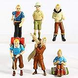 NamekPlanet - Lot de 6 Figurines Tintin et Milou - 5 à 8cm...