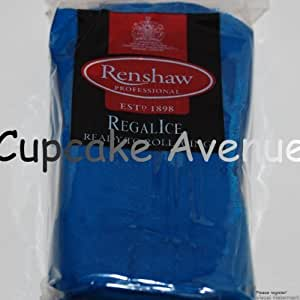 1kg Regalice Ready Roll Icing - Cake Covering Sugar Paste All colours (Atlantic Blue)