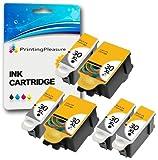 6 XL Druckerpatronen für Kodak ESP C100, C110, C115, C300, C310, C315, C330, C360, 1.2, 3.2, 3.2S, Office 2100, 2150, 2170 AIO, Hero 2.2, 3.1, 4.2, 5.1 | kompatibel zu Kodak 30B, 30CL