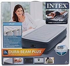 Idea Regalo - Intex Dura Beam Plus Materasso Gonfiabile, Comfort Plush, Tecnologia Fiber Tech, 152 x 203 x 46cm