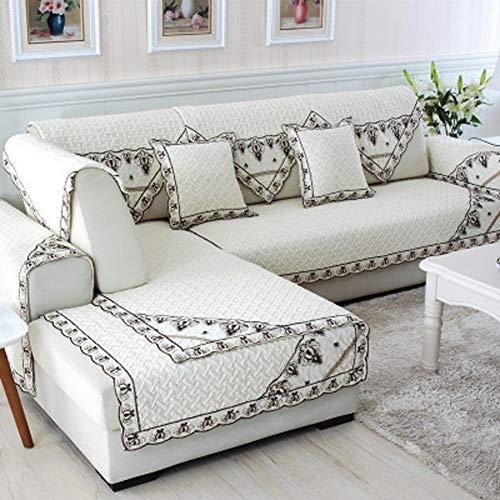 Zzy Baumwoll Sofa möbel beschützer für Haustiere Hund ganzjahresreifen verdicken schnittsofa werfen Abdeckung pad u Form waschbar Sofa werfen slipcover-1 stück-k-C 110x160cm(43x63inch)